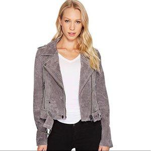 BlankNyc grey suede motto jacket